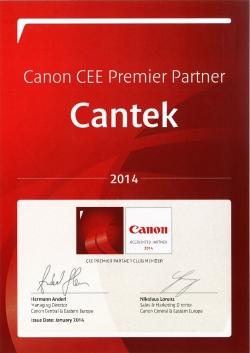 Кантек в CEE Premier Partner Клуб на Канон и за 2014!